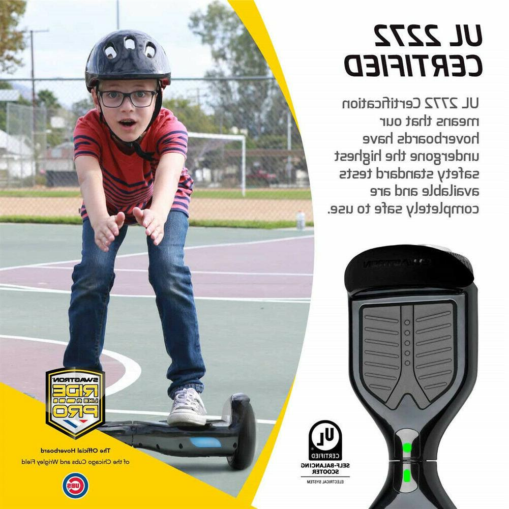 Swagtron Pro T1 UL2272 Certified Hoverboard SelfBalancing Scooter Black