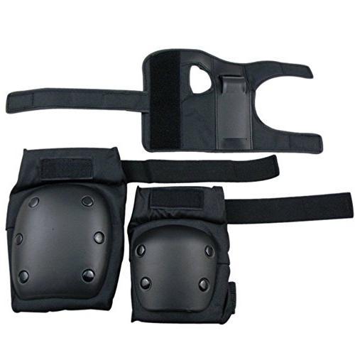 7Pcs Protective Helmet Pads Wrist, Skateboard Skate Bike Size