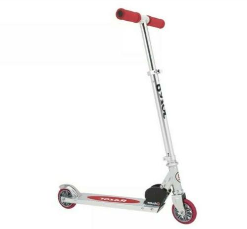 red authentic a kick scooter ages 5