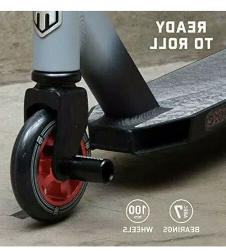 Mongoose Pro Freestyle Kick High Impact Mm Wheels Red/Black