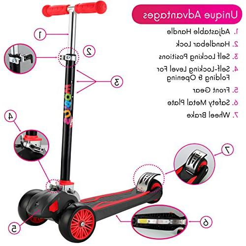 """Scooter For Foldable Kick Scooter handlebars 5-12, Surface-safety 2""""widthX3 24 Guarantee, Secrets"""""""