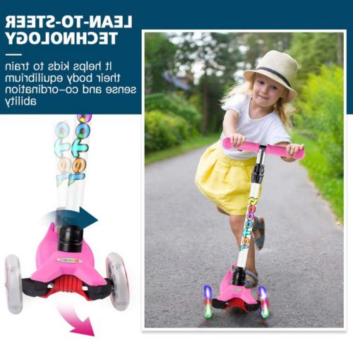 Scooter 3 Wheel Kick Scooter Toddler Girls 4 Ages 2-14