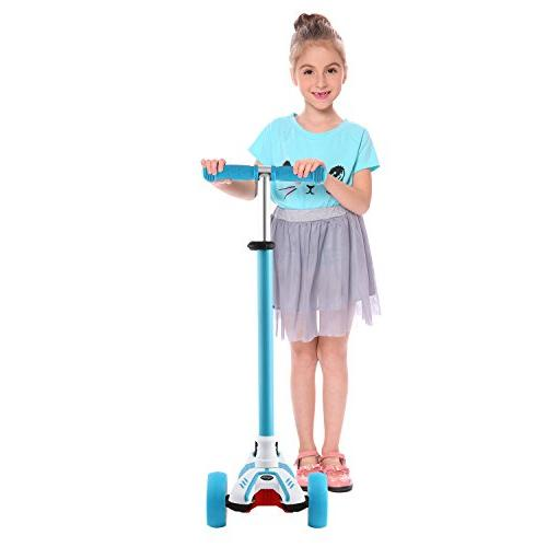 Hikole Kids Scooter, 3 Gifts Children Boys Blue