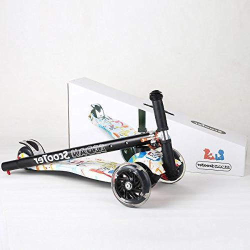 EEDAN Scooter 3 Height Handle with Max Glider PU Deck for Children from 5 14 Year-Old