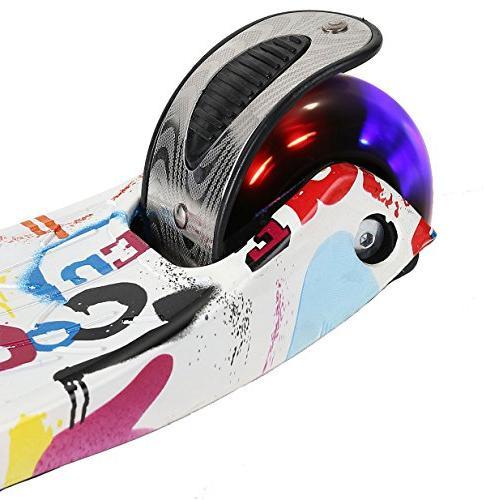 EEDAN 3 Wheel T-bar Height Handle Kick with Glider 5 14