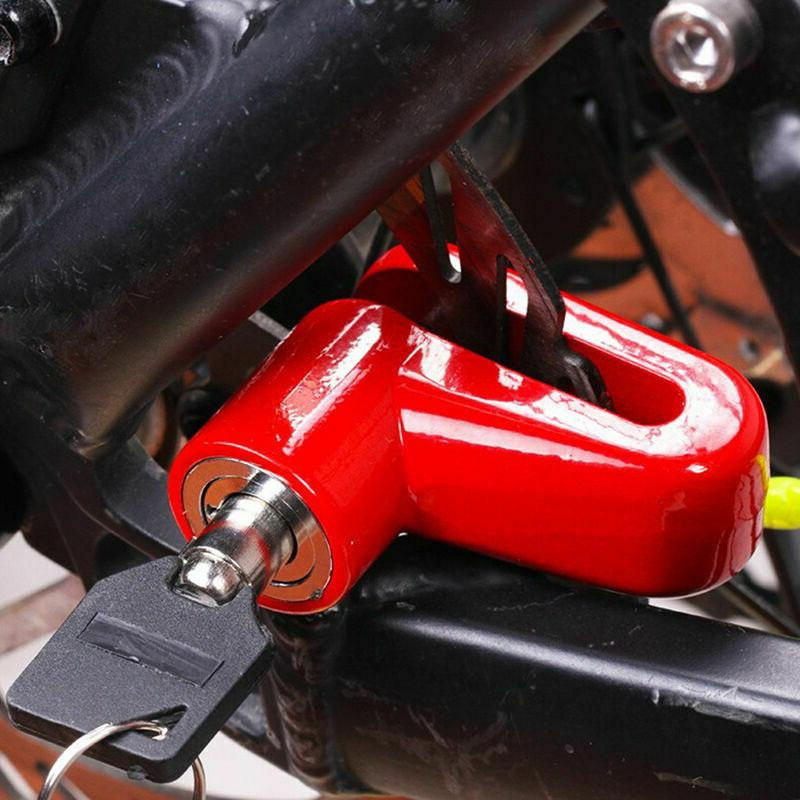 Scooter Bicycle Motorcycle Safety Brake Rotor Lock red