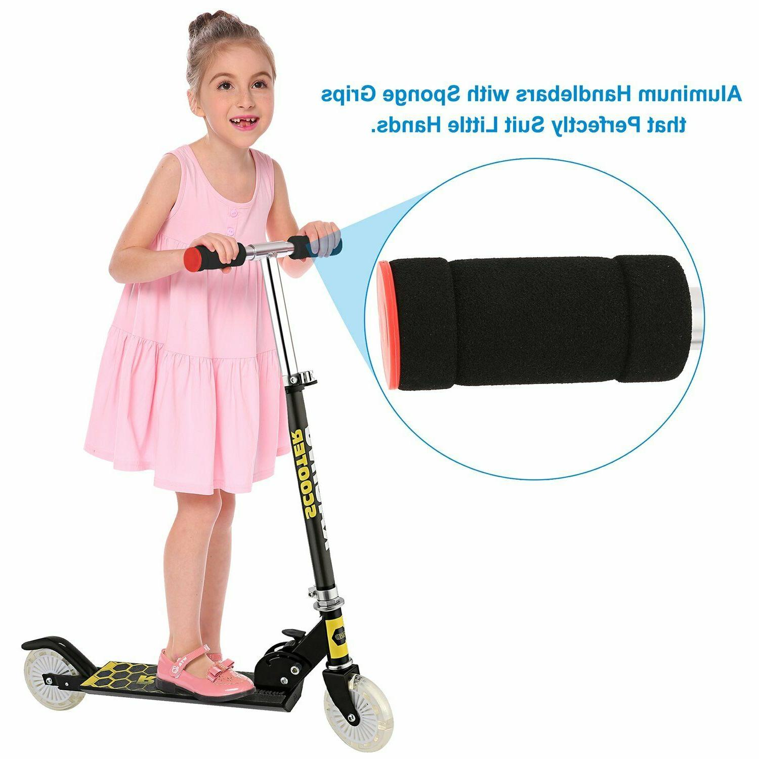 Scooter Deluxe for Kick Girls w/ LED Wheels Kids