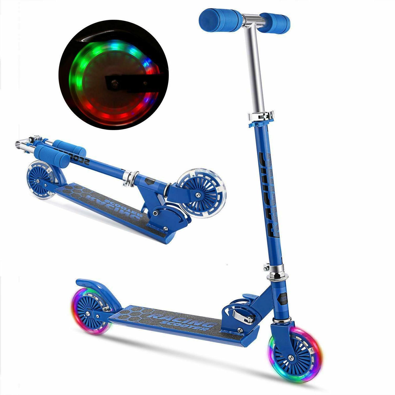 Scooter for Adjustable Kick Girls Boys w/ LED Wheels Kids