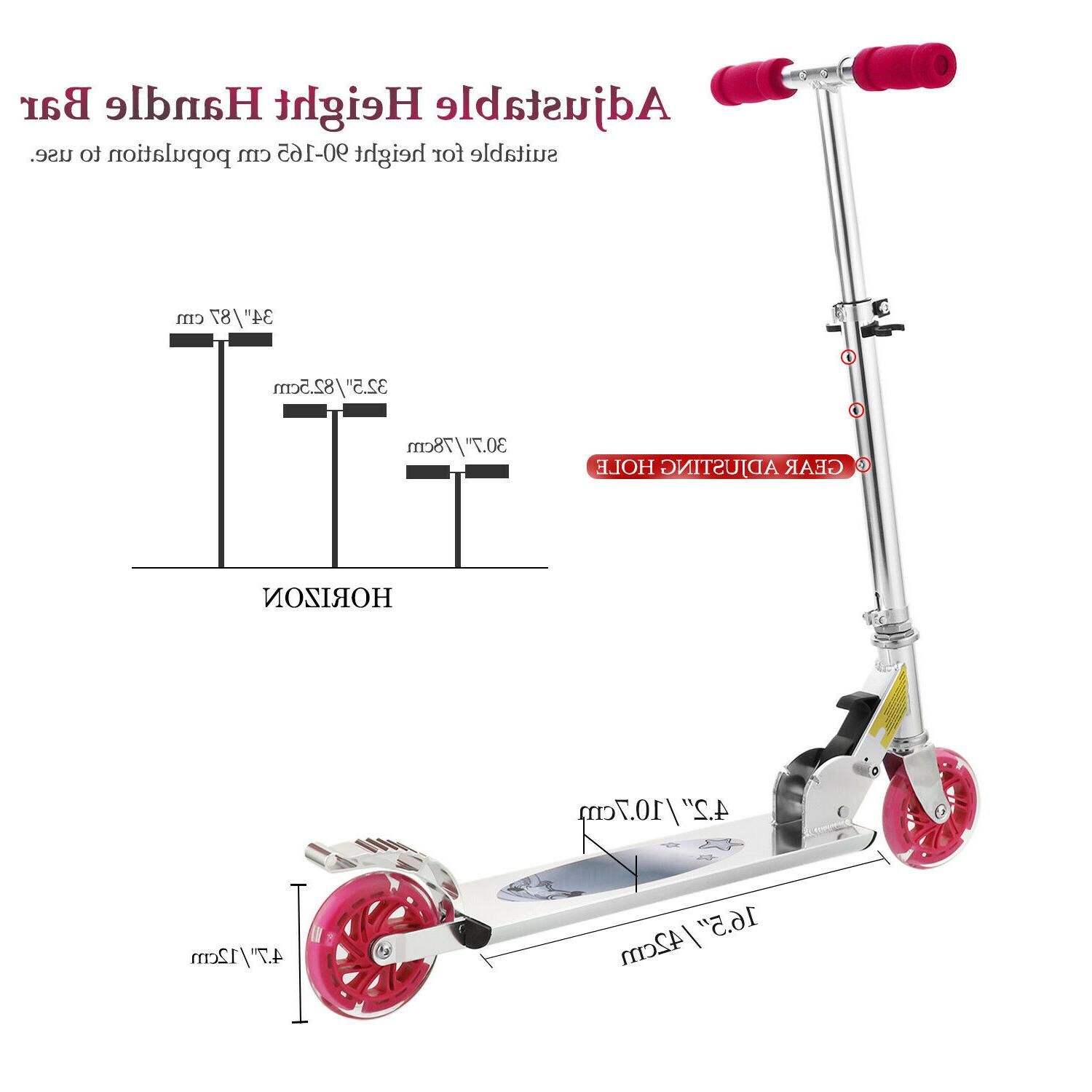 Scooter Deluxe Kick Scooters Boys 2 LED Adults