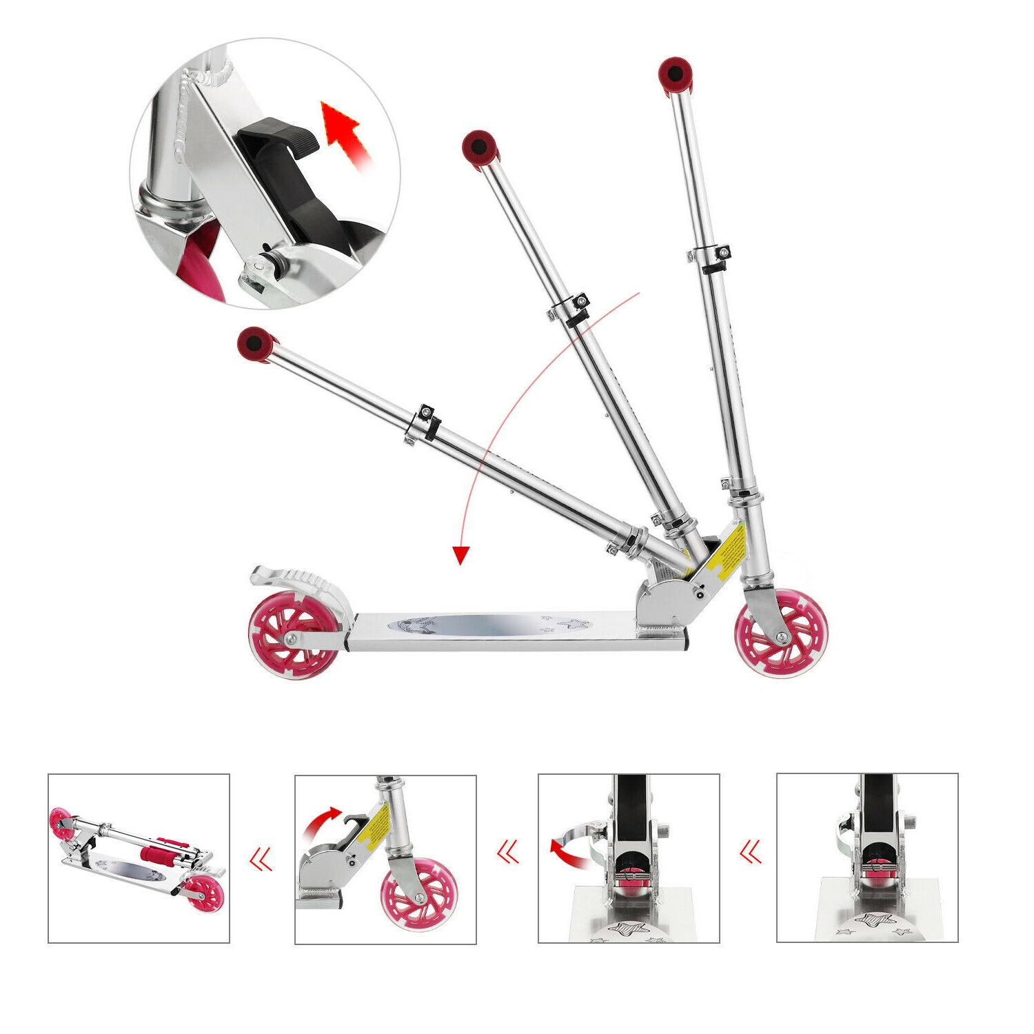 Scooter for Kick Girls 2 LED Adults