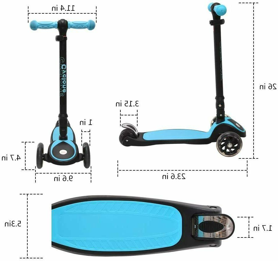 ChromeWheels Scooters Kids, Kick Weight Limit Age 3-12