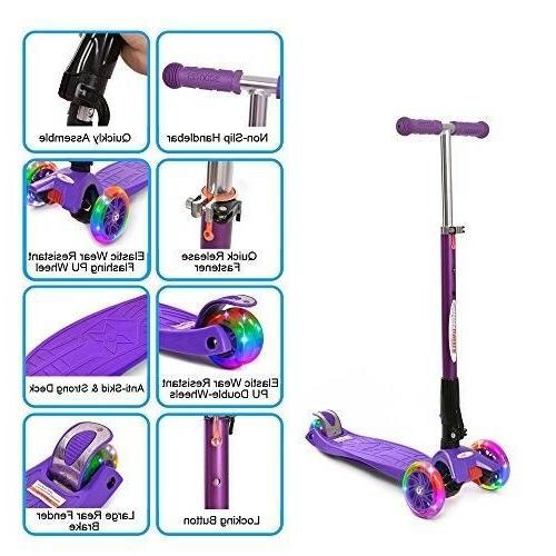 ChromeWheels Scooters Kids, Deluxe Scooter 4 Adjustable