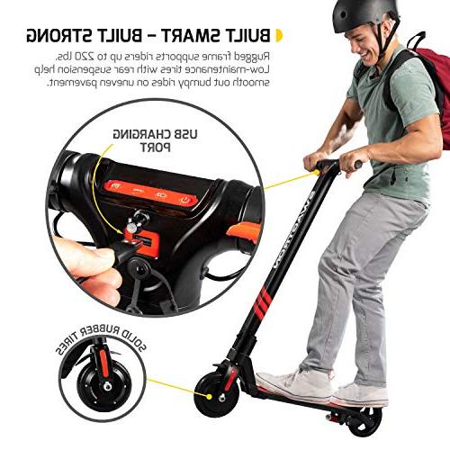 Swagger Pro Electric Scooter w/Cruise Control, Range, Rear Suspension 15.5 Max Speed