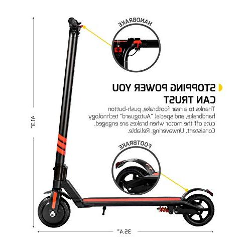 Swagger Pro Foldable Scooter 14.2-Mile Range, Suspension and 15.5