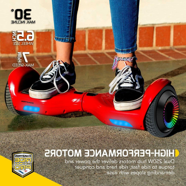 "Swagtron w/ LED 6.5"" Lithium-Free Dual Motors"