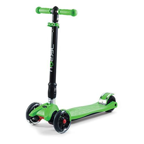 Jetson Twin Folding 3-Wheel Kick Scooter with Wheels, Height Kids 5 Up -