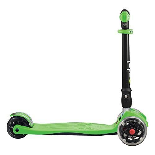 Jetson Folding Wheels, Lean-to-Steer Height Adjustable Kids 5 Up - Green