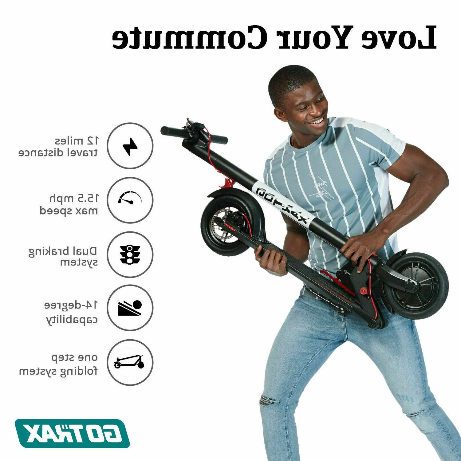 """Gotrax V2 Electric Scooter Adult 8.5"""" Tire Range"""