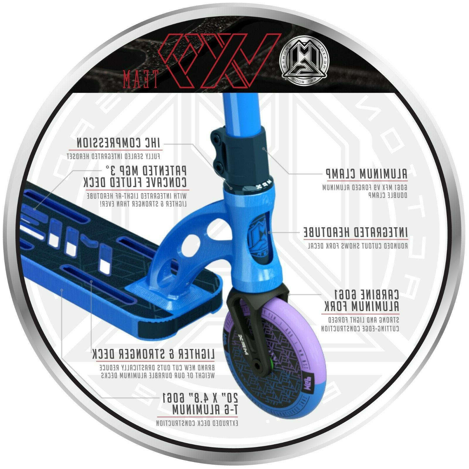 Madd VX9 Team Complete Stunt Scooter - Blue Purple