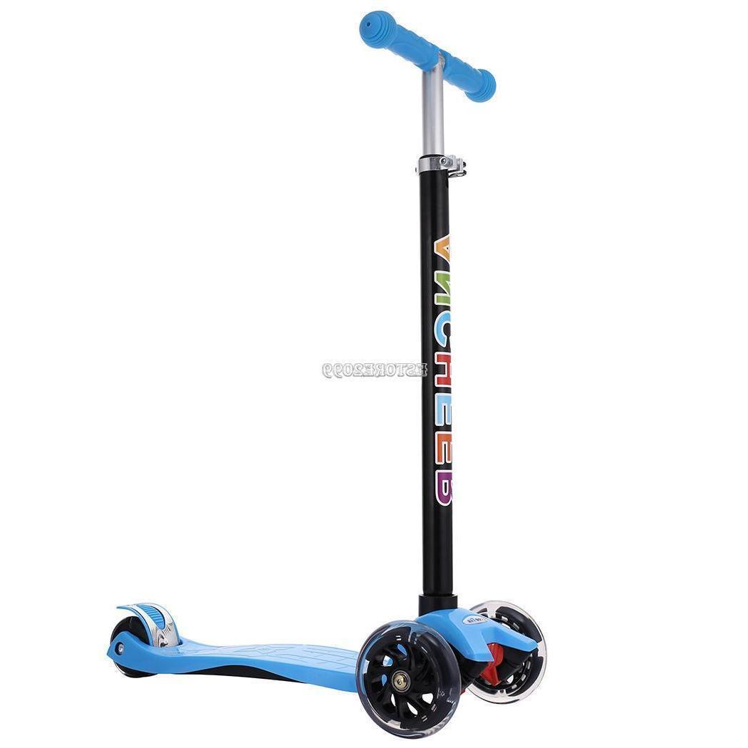 Xmas Gift Scooter Deluxe Girls N Boys 3 Light Wheels