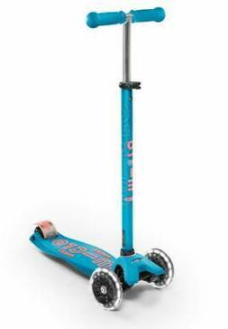 Micro Kickboard - Maxi Deluxe LED 3-Wheeled, Lean-to-Steer,