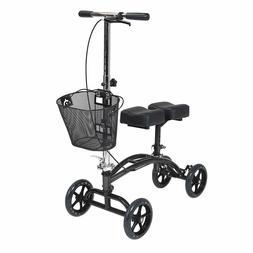 Drive Medical Dual Pad Steerable Knee Walker with Basket Alt