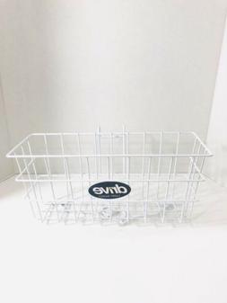 Drive Medical Walker Basket, White, Carry Basket