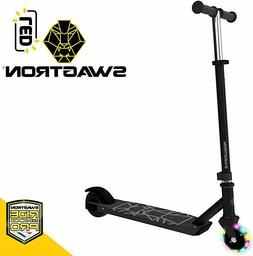 Swagtron Metro SK3 Kid Electric Kick-Start Scooter w/ Wheels