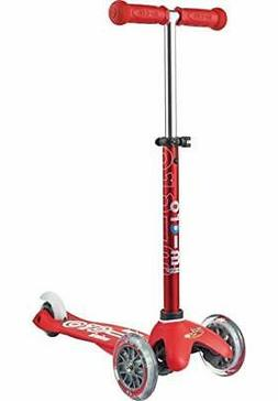 Micro Mini Deluxe LED Kick Scooter Adjustable T-bar 3-Wheels