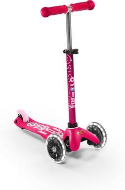 Micro Kickboard Mini Deluxe Scooter LED - Pink