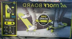 MORF BOARD SCOOT & SKATE COMBO SET CHARTREUSE KICK SCOOTER/S