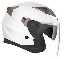Motorcycle Open Face Helmet DOT Approved - YEMA YM-627 Motor