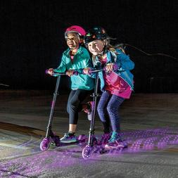 Yvolution Neon Vector Purple LED Light Up Scooter Foldable K