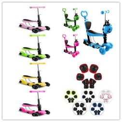 New 4-in-1 Kick Scooter for Kids Toddler Scooter Boys Girls