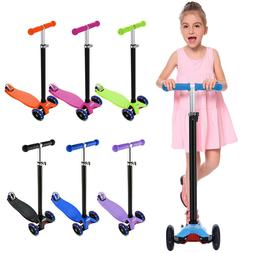 Scooter for Kids - 3 Wheels LED Glider with Kick n Go Lean 2