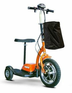 eWheels Orange EW-18 Electric 3 Wheel Mobility Scooter Sit S