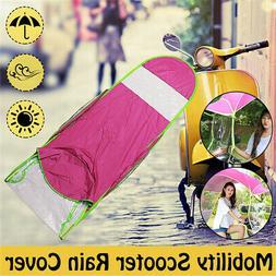 Pink Motor Scooter Sun Shade & Rain Cover Umbrella Mobility