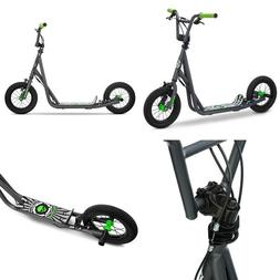 "Pro Scooter 12"" Air Big Wheels for Child Kids, Grey, Handleb"