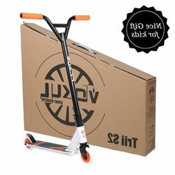VOKUL Pro Stunt Scooter S2 Orange Freestyle For Kids Ride Sm