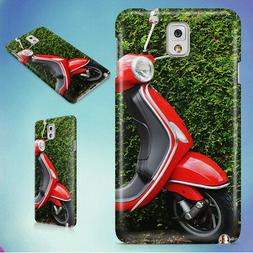 RED AND BLACK MOPED SCOOTER HARD CASE FOR SAMSUNG GALAXY PHO