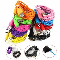 For Samsung 1M 3ft Braided Fabric Micro USB Data&Sync Charge