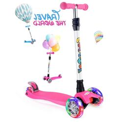 Scooter 3 Wheel Kick Scooter Toddler Girls Boys 4 Adjustable