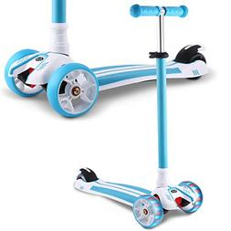 Hikole Kids Scooter, Adjustable 3 Wheels Kick Scooter, Gifts
