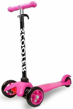 Den Haven Scooter for Kids - Deluxe Aluminum 3 Wheel Glider
