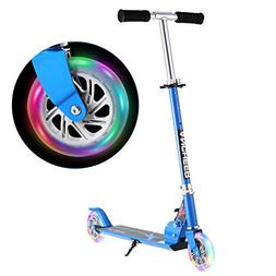 ANCHEER Scooter for Kids with LED Light Up Wheels | Children