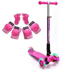 ChromeWheels Scooter for Kids, Deluxe Kick Scooters Foldable