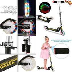 Scooter For Kids, Folding Scooters With Led Light Up 2 Wheel