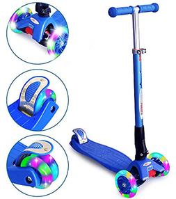 ChromeWheels Scooters for Kids, Deluxe Kick Scooter 4 Adjust