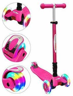 ChromeWheels Scooters for Kids, Deluxe Kick Scooter Foldable