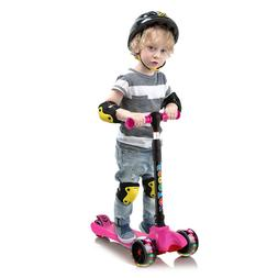 Scooters for Kids Toddler Adjustable Height with PU Light Up